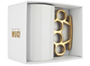 White and Gold Knuckle Duster Mug in gift box by THABTO