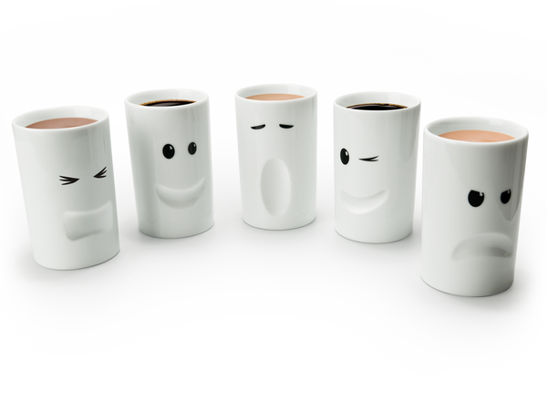 Mood Mugs ceramic thermal insulated mugs with faces by THABTO