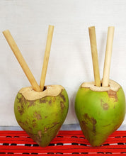 Load image into Gallery viewer, Organic Bamboo Straws (4pcs)