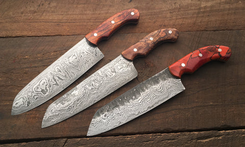 Damascus Chef's Knife Jan 13-15, 2020 (Deposit only)