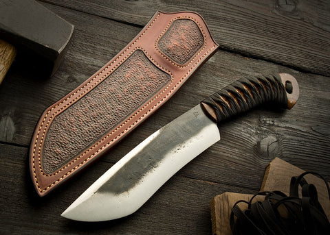 Rustic Shovelnose Camp Knife