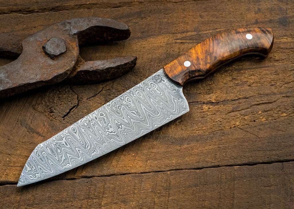 Medium Damascus Santoku