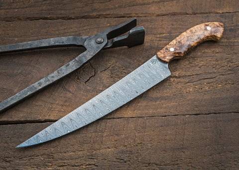 Damascus Carving Knife