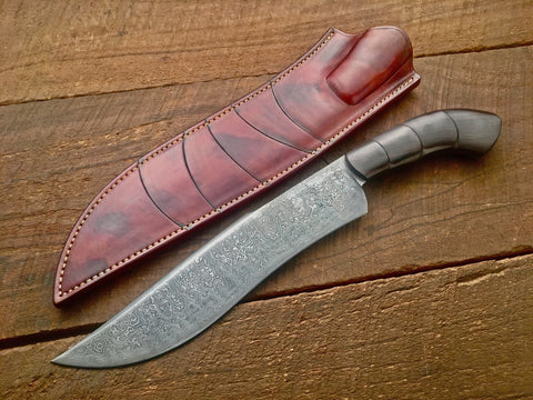 Damascus Camp Knife