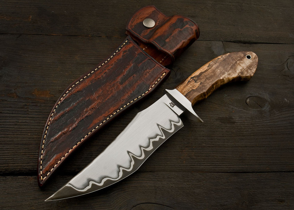 Iron Spur Fighter - Spalted Curly Maple