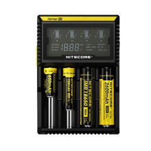Load image into Gallery viewer, Nitecore D4 4-Slot Digital Battery Charger w/ LCD Display Screen