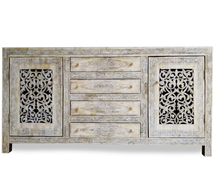 Sultan vintage inlay bone cabinet