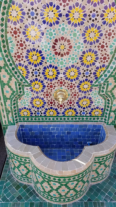 Andalusia mosaic tile fountain
