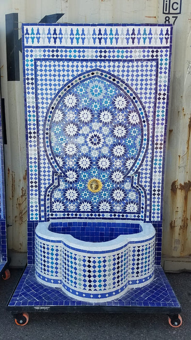 Granada large moorish tile fountain