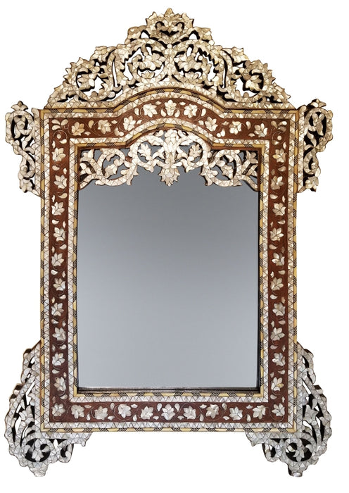 Vintage Mother-of-pearl inlay mirror