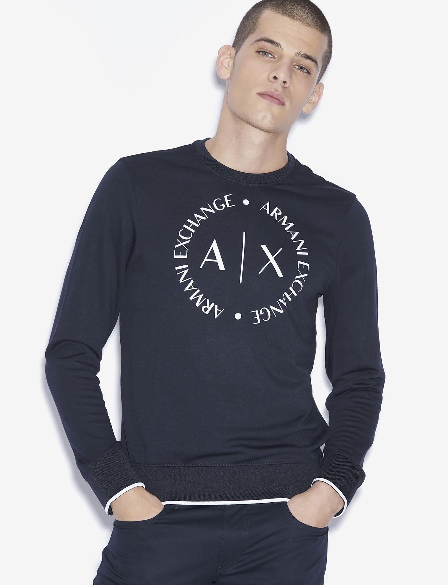 Armani Exchange - Sweater - Navy - Stijl Alkmaar