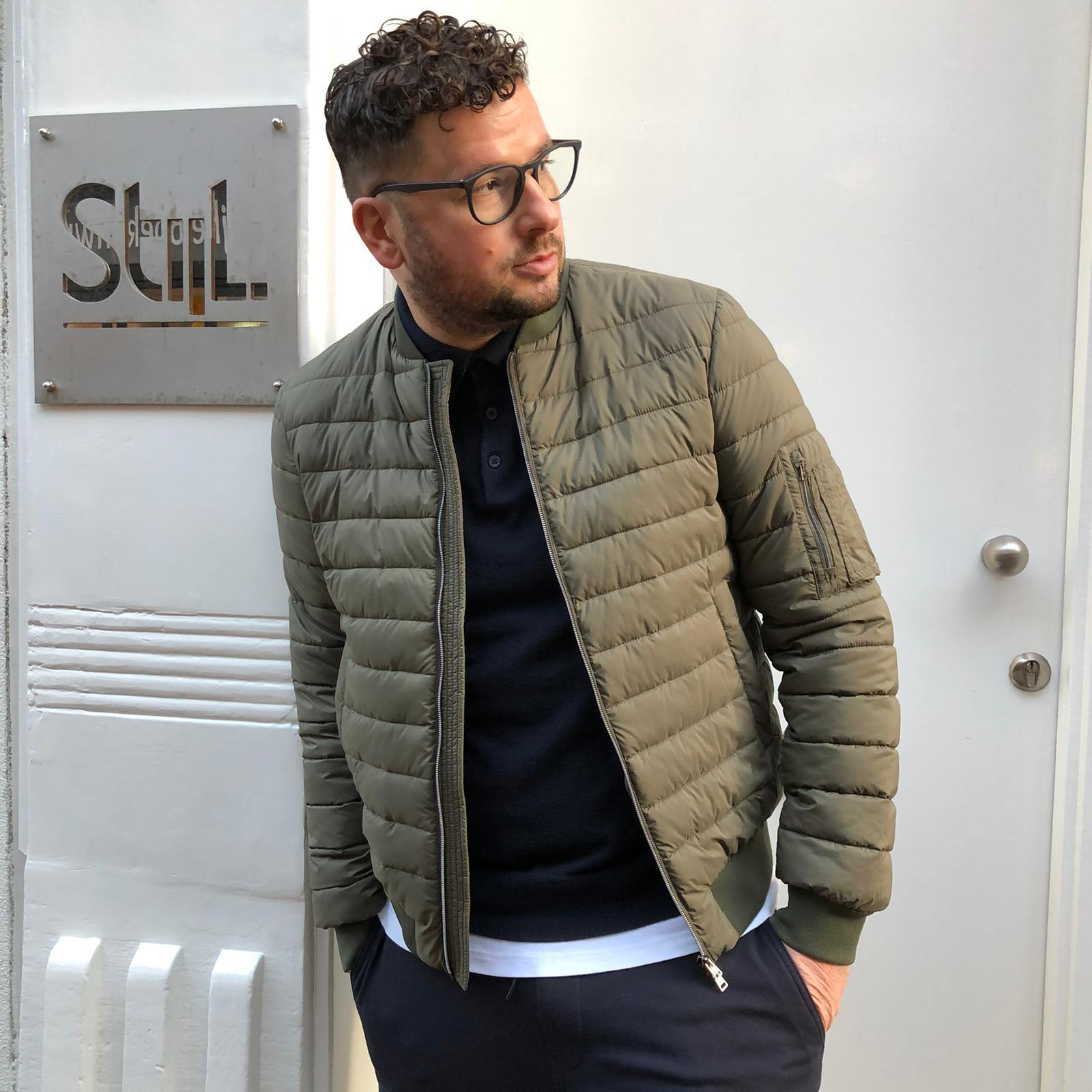 Herno - Padded Bomber - Army Green - Stijl Alkmaar