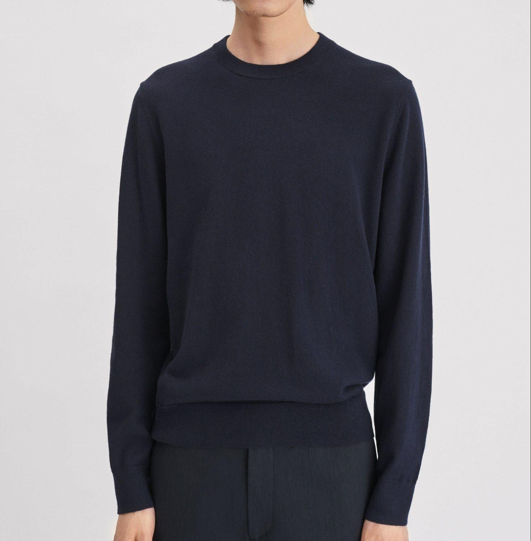 Filippa k - cotton merino Sweater - Navy - Stijl Alkmaar
