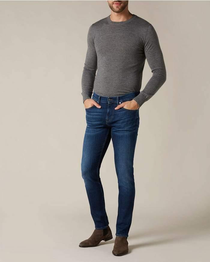 7 For All Mankind - Slimmy Tapered Stretch Tek - Mid Denim - Stijl Alkmaar