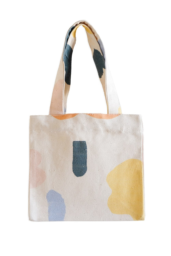 Abstract Small Tote Yellow