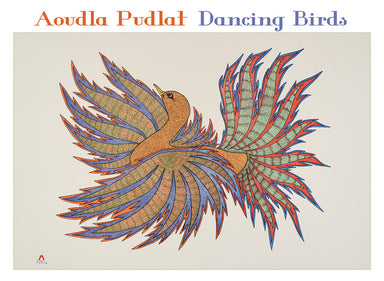 Pomegranate Dancing Birds Boxed Notecards by Aoudla Pudlat