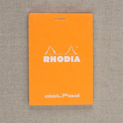 Rhodia Dot Pad, Orange, 3.38 x 3.75 inches