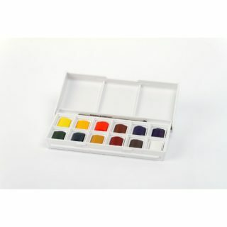 Take color with you in your pocket with this travel water color set.