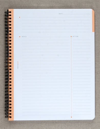 Rhodia Meeting Book Black, 9 by 11.75 inches