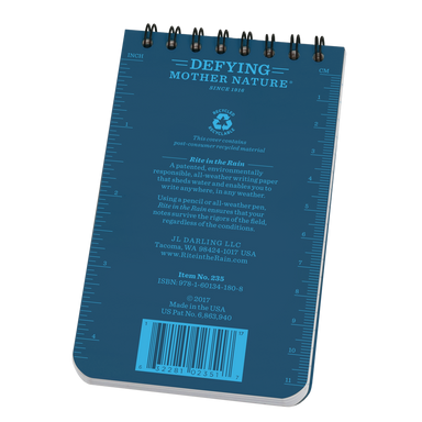 These notebook feature a blue Polydura cover (durable plastic- as the name suggests), with a strong spiral wire binding.