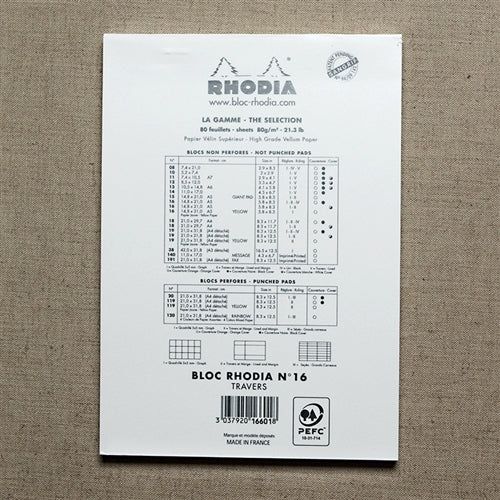 Rhodia Ice Lined Pad, 6 x 8 inches