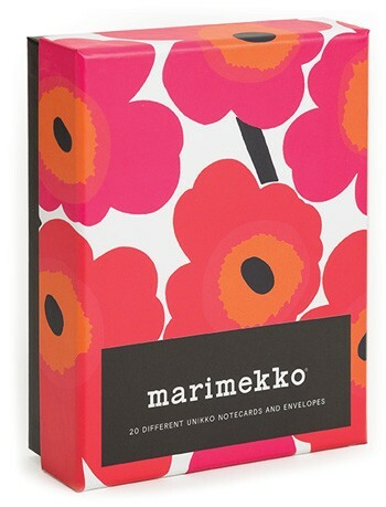 Twenty different notecards by Marimekko, the Finnish fashion and design house.