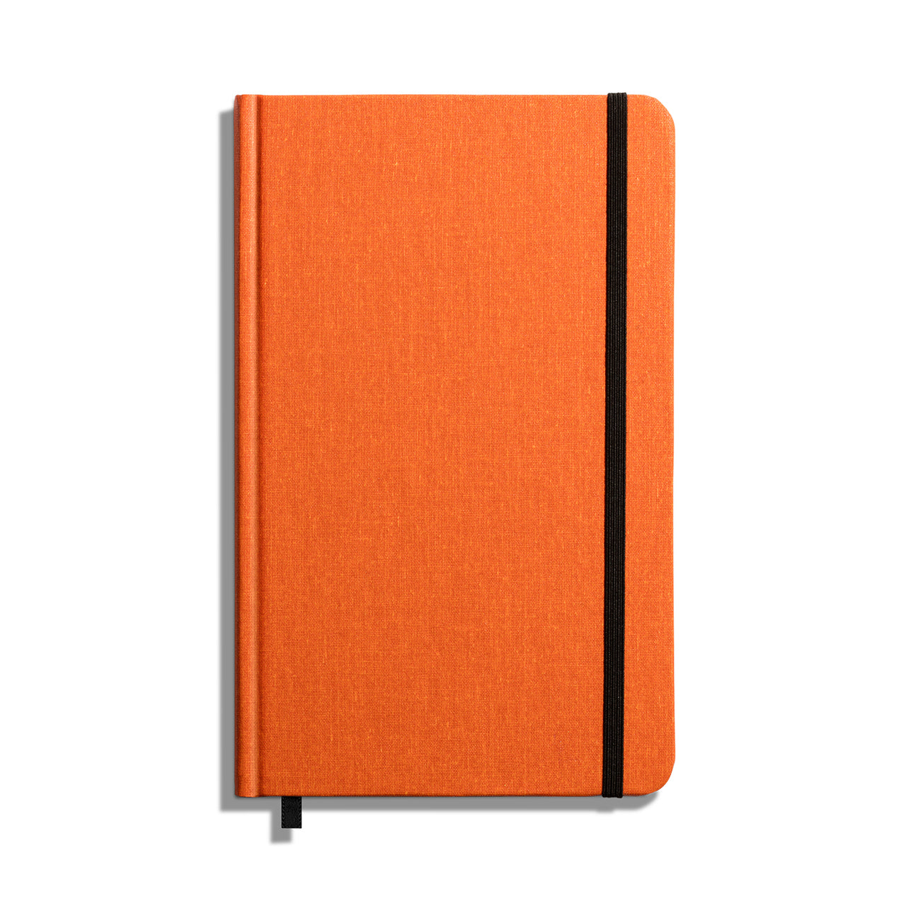 Shinola lined journal with bright, Sunset Orange color, hard linen cover, and lined pages. Best of all, it is American-made!