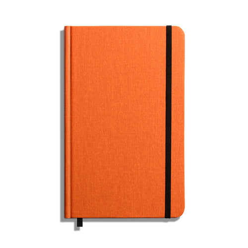 Shinola Hard Linen Ruled Journal, Sunset Orange, 5.25 x 8.25 inches