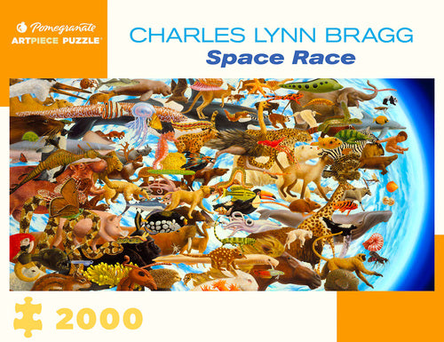 "Pomegranate ""Space Race"" 2000 Piece Puzzle by Charles Lynn Bragg"