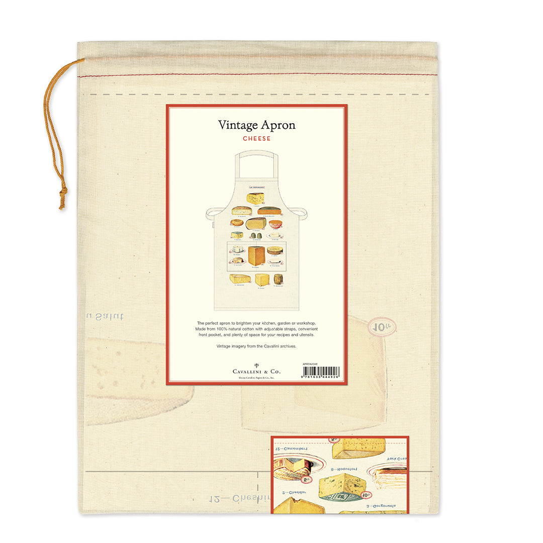 "Cavallini & Co. natural cotton aprons measure  approximately 28"" wide by x 34"" long."
