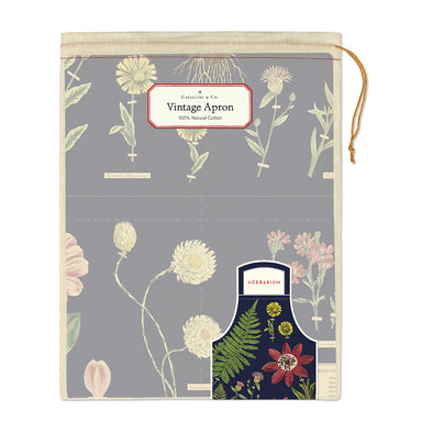 Aprons come packaged in a hand- sewn muslin bag, making them the perfect gift.