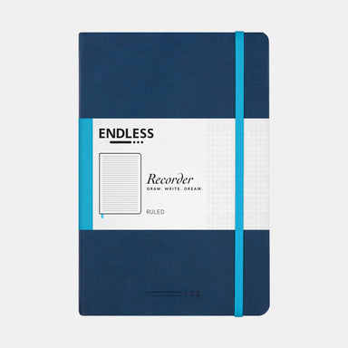 Endless Recorder A5 Journal- Blue Cover.