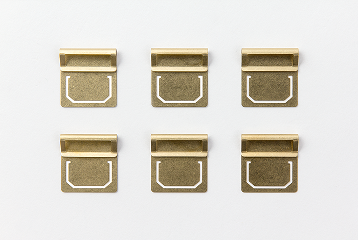 The Midori Brass Index Clips have a wide variety of functions.