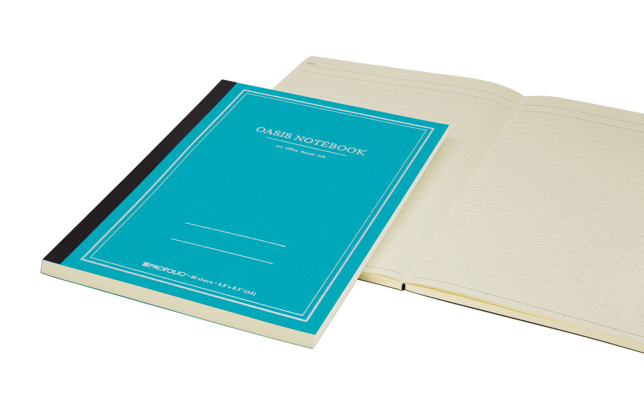 A6 notebooks contain 80 sheets and measure 4.1 inches by 5.8 inches, or 105 by 148 mm.