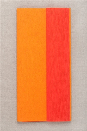 Double Sided Crepe Paper- Orange and Flame