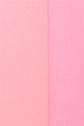 Double Sided Crepe Paper- Light Rose and Pink