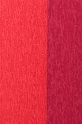 Double Sided Crepe Paper- Wine and Red