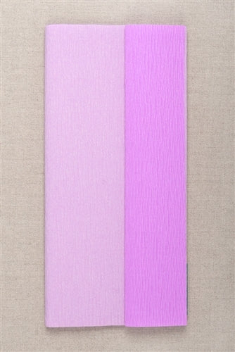 Double Sided Crepe Paper- Lilac and Lavendar