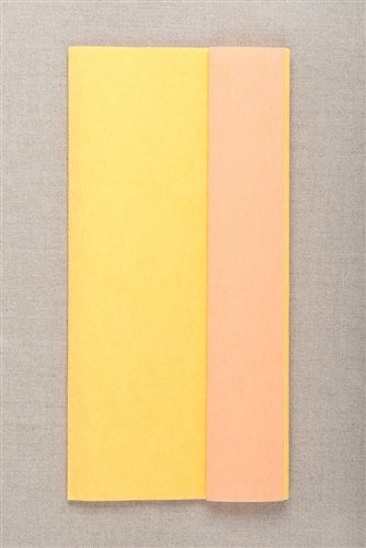 Double Sided Crepe Paper- Yellow and Salmon