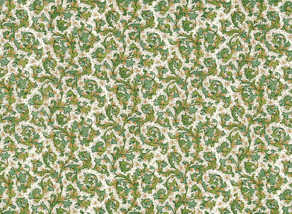 Traditional Florentine design. with bright greens accented with gold.