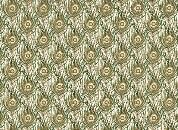 Rossi 1931 Italian Decorative Paper- Peacock Feathers