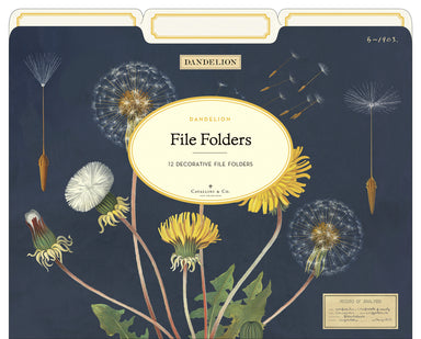 For those who adore vintage floral design in their lives, the Dandelion File Folder is sure to please.