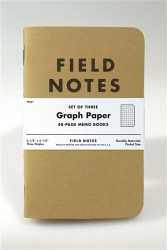 Field Notes Kraft Cover Graph 3-pack