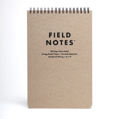Field Notes Steno Pad- 80 pages of fine paper with a top spiral that stays out of the way when you write.