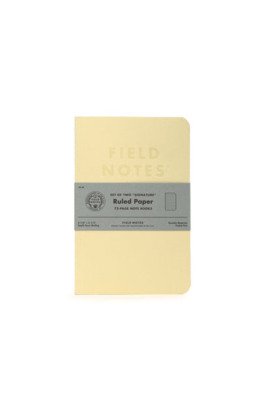 "Field Notes ""Signature"" Edition 2-pack- Ruled pages- cream cover"
