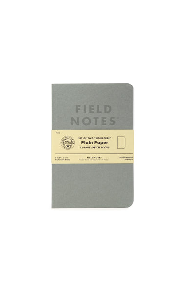 "Field Notes ""Signature"" Edition 2-pack- Plain pages- grey cover"