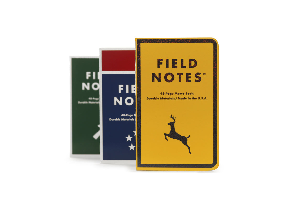 Field Notes Mile Marker special edition three pack.