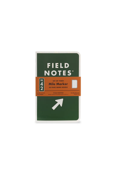 "Field Note's 42nd seasonal release for Spring 2019 is the ""Mile Marker"" Edition, which celebrates the span and history of America's Dwight D. Eisenhower System of Interstate and Defense Highways."