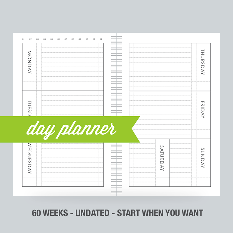 Day Planner: 60-week fill in planner - 100% Post Consumer Recycled