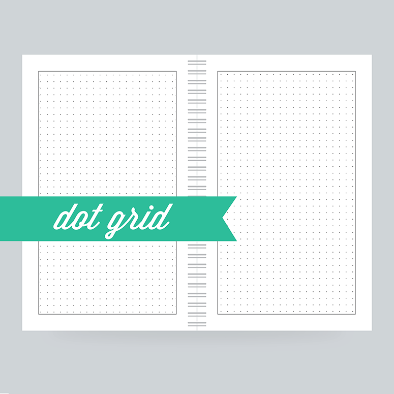 Dot grid is our latest filler paper offering. 130 Pages- Dot Grid on the front & back - 100% Post Consumer Recycled